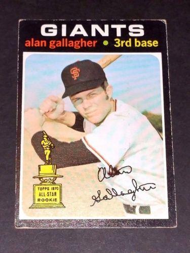 VINTAGE ALAN GALAGHER GIANTS 1971 TOPPS #224 PR-GD