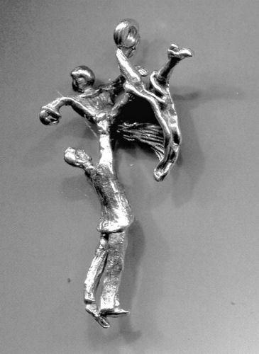 Vintage Sterling Charm : 2 Dancers #6 From Judith Jack Bracelet