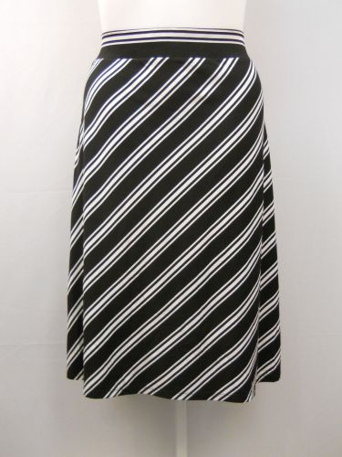 PLUS SIZE 4X Womens A Line Skirt FADED GLORY Striped Calf Elastic Waist Pull On
