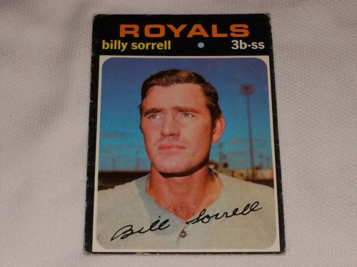 VINTAGE 1971 TOPPS BILLY SORRELL ROYALS BASEBALL #17 GD-VG