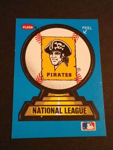VINTAGE PITTSBURG PIRATES FLEER BASEBALL COLLECTORS STICKER GD-VG