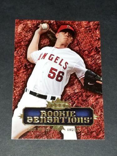 MLB JERED WEAVER ANGELS 2007 FLEER ROOKIE SENSATIONS INSERT #RS-JW GD-VG