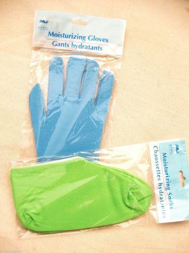 B0006 Spa Home Poly Knit Moisturizing Gloves and Socks Set Free Size New