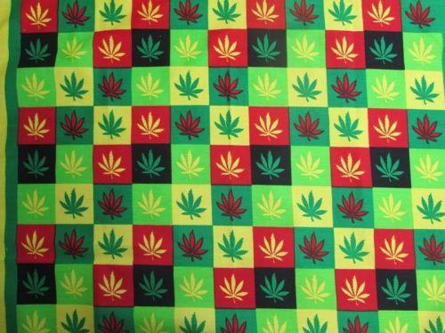 Marijuana Weed Leaf Cloth Flag 19 x 19 inch Swaddle Head Wrap,REGGAE RASTA HIPPY