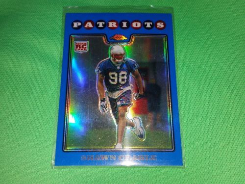NFL Shawn Crable Patriots 2008 Topps Chrome Blue Refractor ROOKIE Mnt
