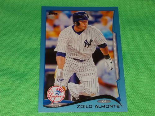 MLB Zoilo Almont Yankees SUPERSTAR 2012 TOPPS BLUE BORDER BASEBALL MNT