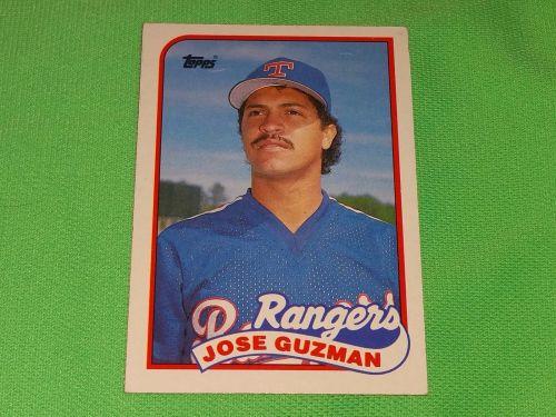 MLB Jose Guzman Rangers 1987 Topps Baseball GD-VG