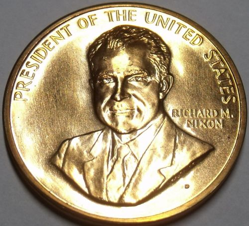 Gem Unc Richard Nixon Inauguration Medallion~33.6mm~Excellent~Free Shipping
