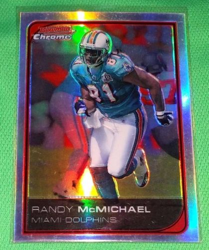 NFL Randy McMichael Miami Dolphins 2006 BOWMAN Chrome Red Refractor 17/25 SP Mnt