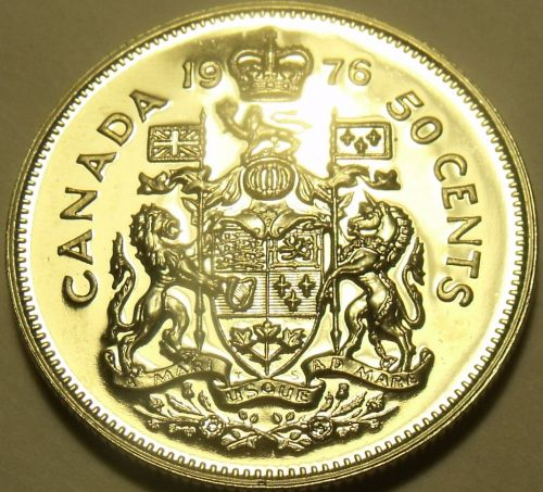 PROOF CANADA 1976 50 CENTS~WE HAVE PROOFS~FREE SHIPPING~