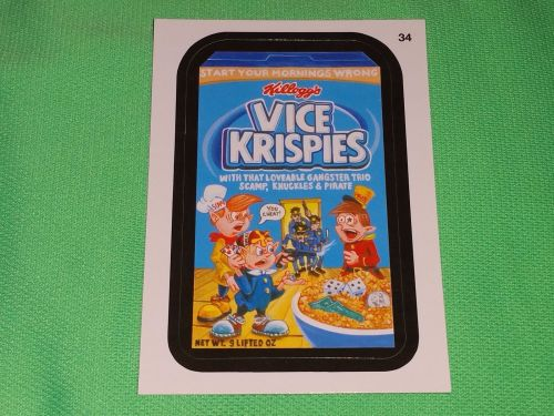 RARE Willy Wonka Wacky Package Vice Krispies Collectors Sticker Card Mint