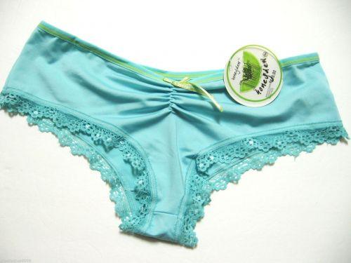 A0426 Honeydew Rouching Front Floral Lace Trim Nylon Microfiber Boyshort 239 New