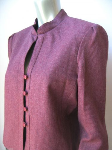 Joseph Feldman Brick Lined Long Sleeves Stretch 4-Button Blazer Jacket 16 New PR