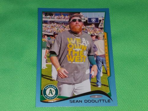MLB Sean Doolittle Oakland A's SUPERSTAR 2012 TOPPS BLUE BORDER BASEBALL MNT