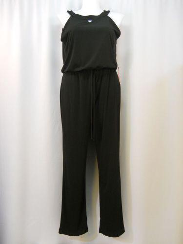 AA Studio AA Black Sleeveless Keyhole Straight Leg Jumpsuit/Romper Size 14