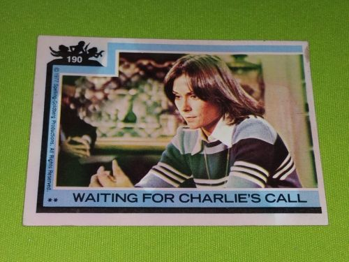 VINTAGE 1977 CHARLIES ANGELS TELEVISION SERIES COLLECTORS CARD #190 GD-VG