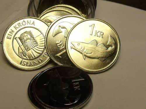 Gem Unc Roll (40) Iceland 1999 Krona~Cod Fish And a Giant~Free Shipping