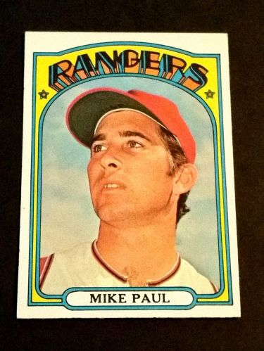 VINTAGE MIKE PAUL RANGERS SUPERSTAR 1972 TOPPS #577 GD-VG