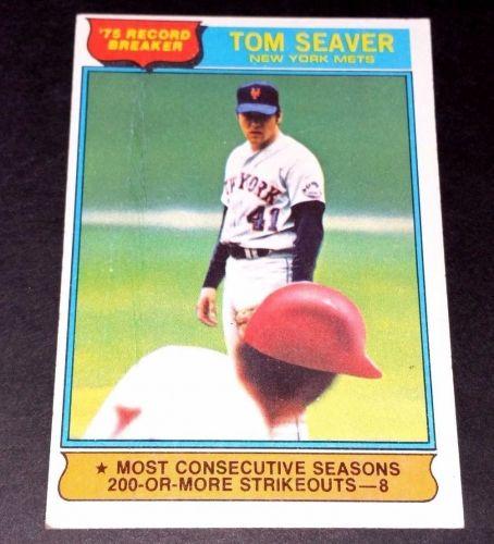 VINTAGE TOM SEAVER METS 1975 TOPPS #5 GD-VG