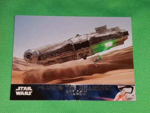 2016 Topps Star Wars piloting the millennium falcon Collectible Trading Card Mnt