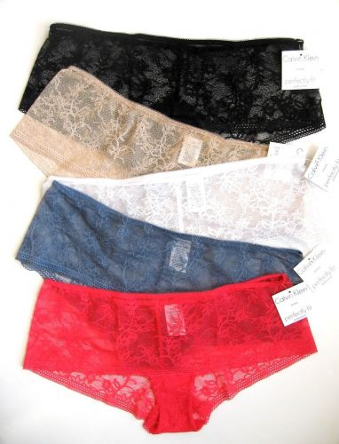 A0310H Calvin Klein Lingerie F2765 Perfect Fit Sheer Seduction Lace Hipster New