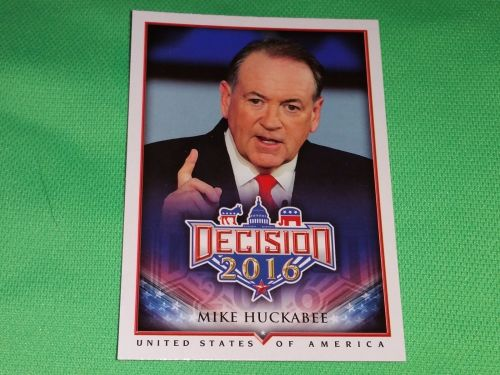 2016 Presidential Decision Governor Mike Huckabee Collectible Card Mnt