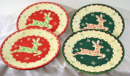 Reindeer Plates Set of 4