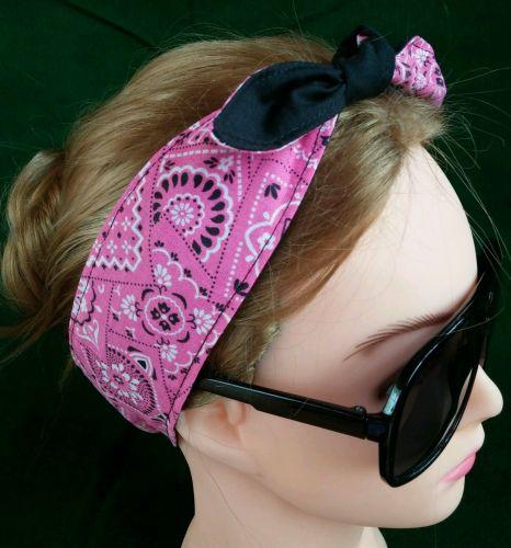 Headband hair wraptie bandanna 100% Cotton Handmade