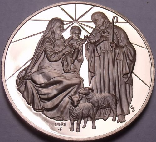 Solid Bronze Proof Franklin Mint Medallion~Madonna And Child~Incredible~Free Shi