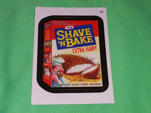 RARE 2015 Willy Wonka Wacky Package SHAVE 'N BAKE Collectors Sticker Card Mint