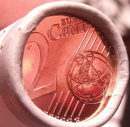 Gem Unc Original Roll (50 Coins) Latvia 2014 2 Euro Cents~Free Shipping