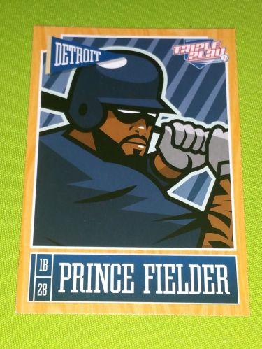 MLB PRINCE FIELDER TIGERS SUPERSTAR 2015 PANINI TRIPLE PLAY #29 MNT