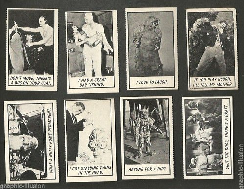 Thirty ORIGINAL MONSTER trading cards 1960's American International PicturesTINY