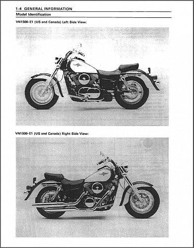 1987-2004 Kawasaki Vulcan 1500 ( VN1500 ) Classic Service & Parts Manual on a CD