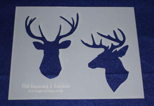 Deer/Buck Stencils -2pk -Mylar 14 Mil-8x10 Painting/Crafts/Stencil/Template
