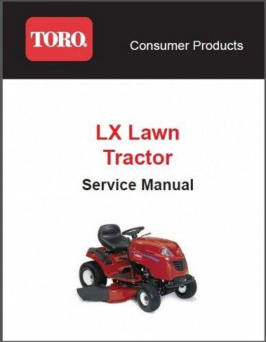 Toro LX Series ( LX420 LX425 LX460 LX465 LX500 ) Lawn Tractor Service Manual CD