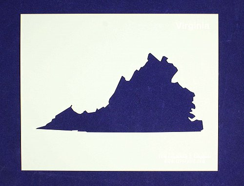 State of Virginia Stencil -14 mil Mylar Painting/Crafts