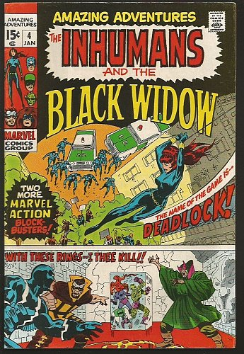 INHUMANS and the BLACK WIDOW in Amazing Adventures #4 Marvel Comics J KIRBY 1970