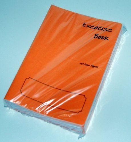 5 x A5 School Exercise Books ORANGE COVERS. (40xplain white pages)