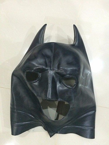Batman full mask Halloween costume adult dark knight rises cosplay black latex