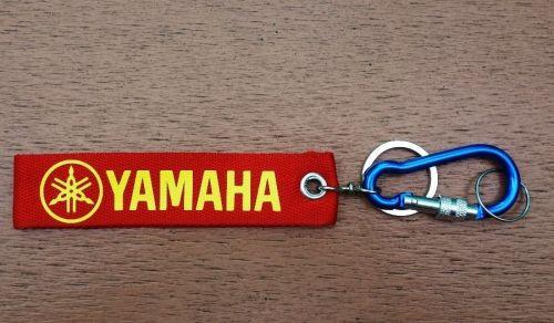 1 Embroidered Fabric Screen Yamaha Keychain Keyring Key Holder Tag Motorcycle