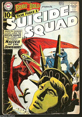 BRAVE AND BOLD #38 DC COMICS 2nd SUICIDE SQUAD 1st Print and Series 1961 Last10c
