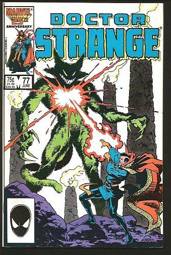 "Dr. Strange #77 Marvel Comics 1985 VF- ""KHAT"" 25th Anniversary Gillis / Warner"