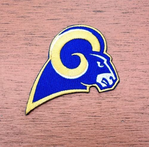 NFL Los Angeles Rams Football Logo embroidered iron on patch free shipping