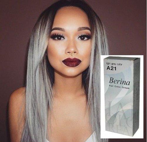 Berina Hair COLOR Grey Permanent Fashion Blue Green Violet Cream Dye