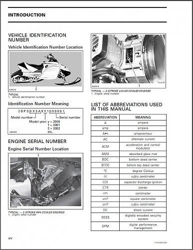 2005 Ski-Doo Rev ( GSX, GTX, MX Z, Summit ) Snowmobiles Service Manual on a CD