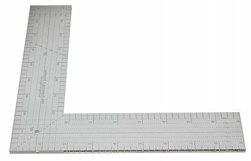 """9"""" L-Shaped Ruler. Acrylic ~1/4"""" thick. Quilting/Sewing/Template"""