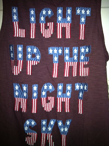 Light Up The Sky Tank Top Women`s Size Small Retail 49.50