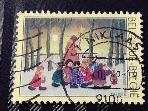 Belgium used 1v stamp 1998 Christmas Stamp Thrematic Religion