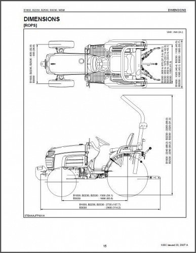 Kubota B1830, B2230, B2530, B3030 Tractor WSM Service Manual on a CD